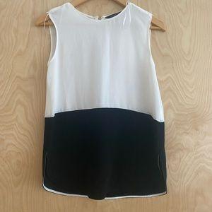 Zara black & white top, XS